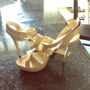 Jimmy Choo strappy nude sandals